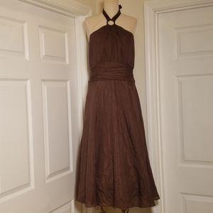 White House Black Market brown halter dress